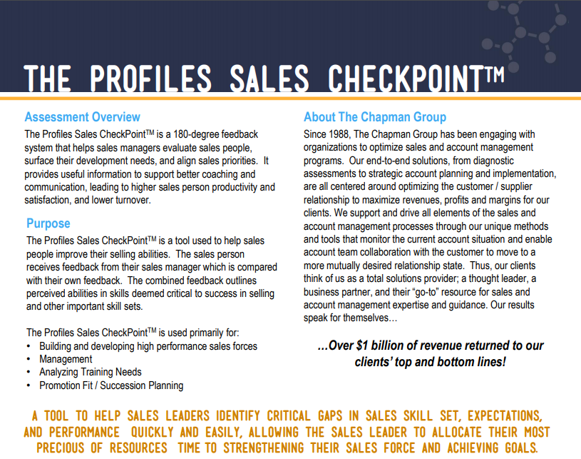The Sales CheckPoint